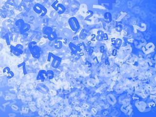 Numeri colorati random - scuola elementare