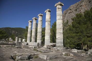 Priene antique city, Söke, Aydın, Turkey