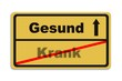 canvas print picture - Gesund - Krank