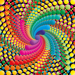 Abstract swirl colorful background, vector illustration.