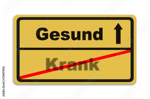 canvas print picture Gesund - Krank