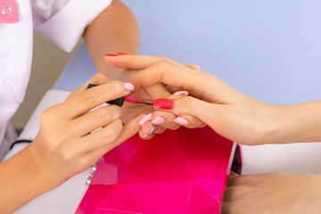 step of manicure process