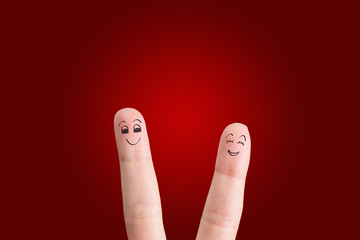 friendly couple
