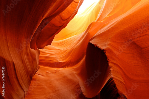 Leinwanddruck Bild Fire in the Cave at Lower Antelope Canyon