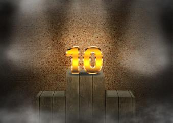 10 no pódio