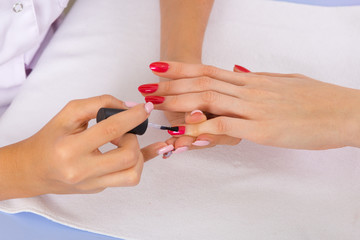 step of manicure process