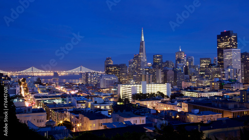 Foto op Canvas Texas San Francisco Skyline at Night