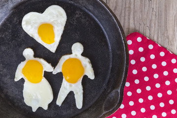 Valentines Day Breakfast Fried Eggs