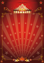 Magic red star circus poster