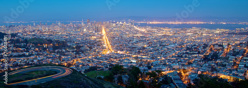 Foto op Aluminium San Francisco San Francisco Cityscape at Night