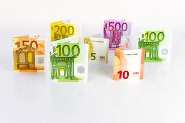 Euro- Geldscheine von 5 bis 500