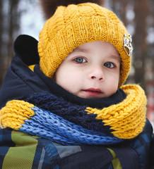 boy in winter