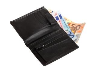 Euro in wallet