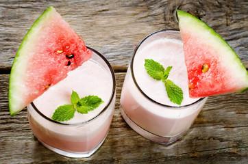 milk smoothie with watermelon