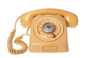 Gul svensk telefon