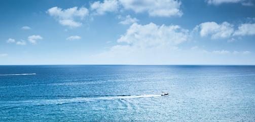Motorboat traveling