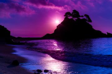 Island at sunset