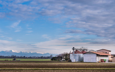 Agricultural Landscape with farm