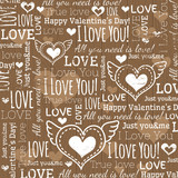 Fototapety beige background with  valentine heart and wishes text