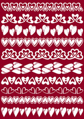 Set of Lace Paper with heart, vector
