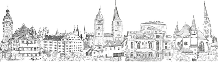 altenburg panorama drawing handdrawing