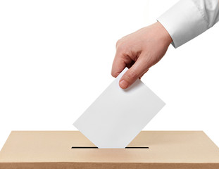 ballot box casting vote election