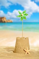 Sandcastle With Pinwheel