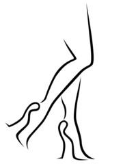 Abstract female legs in stylish footwear