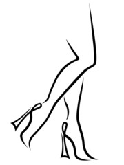 Abstract fashionable women legs