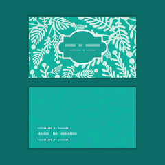 Vector emerald green plants horizontal frame pattern business