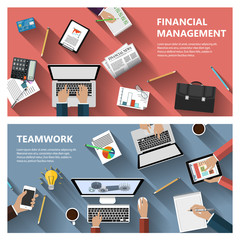 Financial menagement and teamwork concept