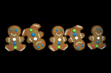 Line Dancing Gingerbread Men