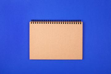 Eco notebooks on blue