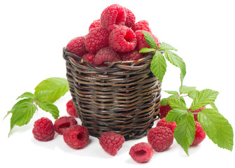 raspberry in the basket