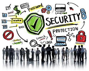 Business Team Discussion Security Protection Information Concept