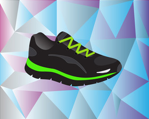 Sport shoe with background