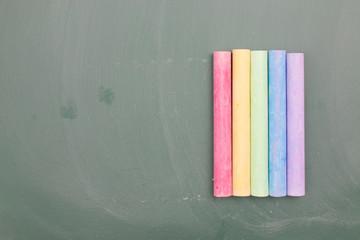 Chalk on blackboard