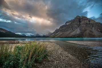 Early morning in Bow Lake