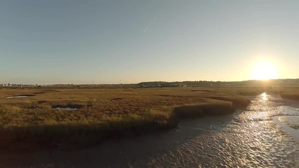 Maine Aerial Estuaries Sunset