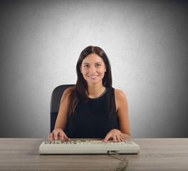 Businesswoman works