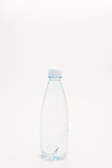 Water bottle isolated on a white background.