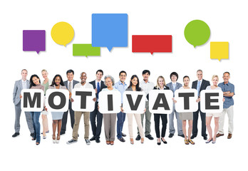 Motivate Business People Team Teamwork Success Strategy Concept