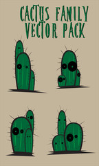 CACTUS FAMILY VECTOR PACK
