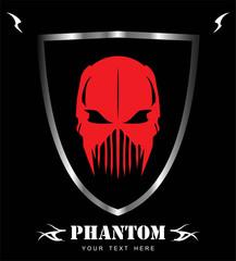 Red Mask. Phantom. Alien. Predator. Artwork.