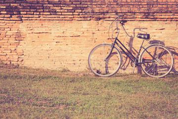 Vintage bicycle in Sukhothai Historical Park, Thailand