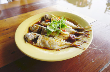 mackerel cook with special sauce