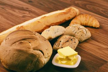 Assorted bread rolls