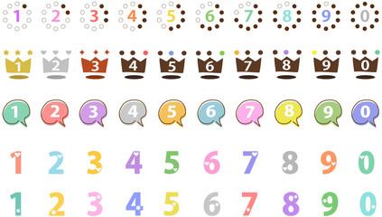 カラフル 数字