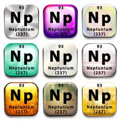 A button showing the element Neptunium