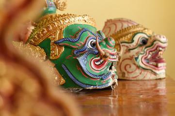 Hua Khon, Used in Khon - Thai traditional dance